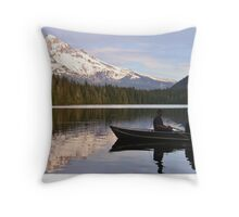 Fishing On Lost Lake Throw Pillow