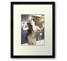 Itchy Gold Dress Framed Print