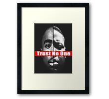 "Tupac and Biggie ""Trust No One"" Supreme Framed Print"