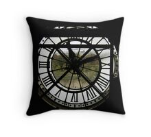 Looking out through time Throw Pillow