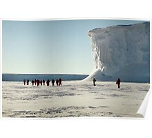 Walking at the Drygalski Ice Tongue, Antarctica Poster