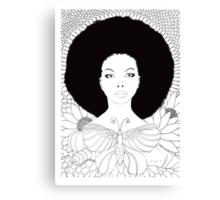 vivian (white background) Canvas Print