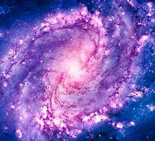 Cosmic vacuum cleaner (Spiral Galaxy M83) by badbugs