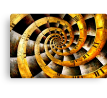 Steampunk - Clock - The flow of time Canvas Print