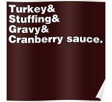 Thanksgiving Helvetica Poster