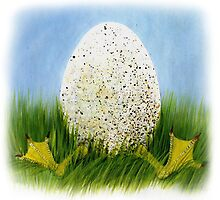 Early Beginner egg painting by Veera Pfaffli