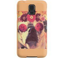 Flowered Hippie Pug Samsung Galaxy Case/Skin