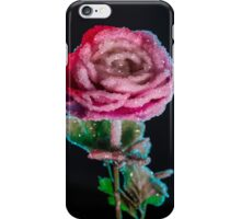 Crystallized Rose Flower iPhone Case/Skin
