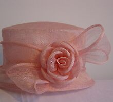 pink straw hat by Helen French