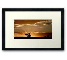 Last Rays - Nairne - Adelaide Hills Framed Print