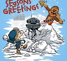 Snow Wars - Seasons Greetings card by DJKopet