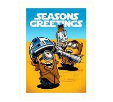 Despicable Jawas - Seasons Greetings Card Art Print