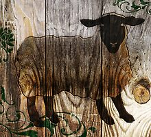 wooden sheep by maydaze