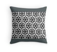 GEOMETRIC WHITE, BLACK & FROSTED TEAL Throw Pillow