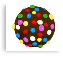 Chocolate Candy Color Ball Canvas Print