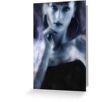 abstract blue wash Greeting Card