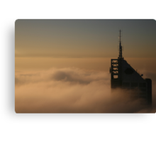 golden fog Canvas Print