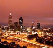 City Skyline - Perth - Western Australia by Erin McMahon