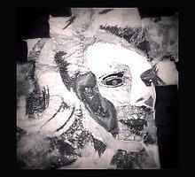 Marilyn Patchwork Portrait B&W by Mon87
