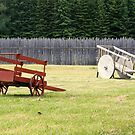 Two Wooden Wheelbarrows by Elizabeth  Lilja