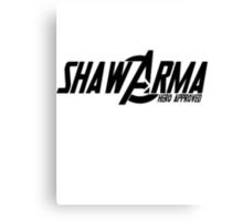 Shawarma Hero Approved Canvas Print