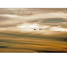 Helitankers At Sunset  Photographic Print