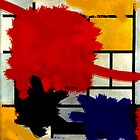 Mondrian has a bad day. by Mark James Gaylard