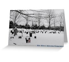 We Will Never Forget - Poster Greeting Card