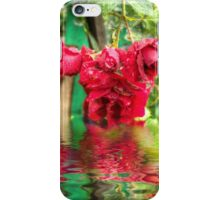 Wet red roses 4 iPhone Case/Skin