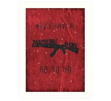 'Die Hard' Inspired Christmas Card Art Print