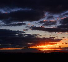 Crepuscular Rays At Sunrise  by EOS20