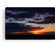 Crepuscular Rays At Sunrise  Canvas Print