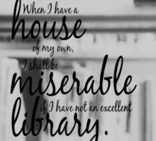 Jane Austen Library Sticker