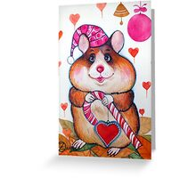 candy hamster Greeting Card