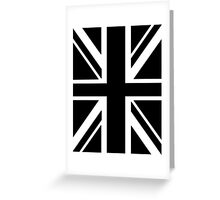 BRITISH, UNION JACK FLAG, UK, UNITED KINGDOM IN BLACK Greeting Card