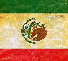 Vintage Grunge Mexico Flag by sale
