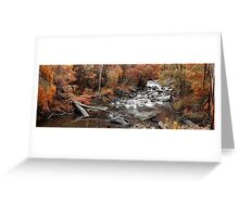 Cascades In Autumn  Greeting Card