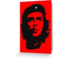 Che Guevara, Revolution. Cuba, Power to the people! In Black Greeting Card