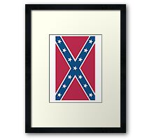 Confederate, Rebel, Dixie Flag, C.S.A, America, Pure & Simple, Portrait, upright Framed Print