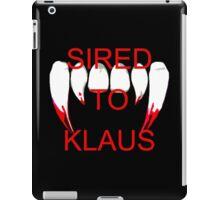 Sired to klaus iPad Case/Skin