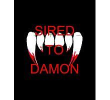 Sired to damon Photographic Print