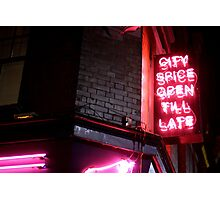 Brick Lane, open till late Photographic Print