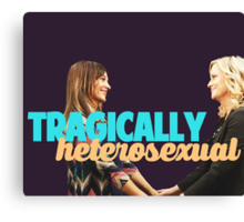 Tragically, we are both heterosexual. Canvas Print