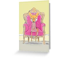 MISS FOX IN PINK CHAIR Greeting Card