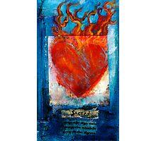 Sacred Sanskrit Heart Photographic Print