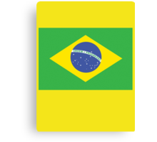 BRAZILIAN FLAG, FLAG OF BRAZIL, PURE & SIMPLE, Brazil, Football & Olympics Canvas Print