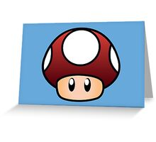 Super Mario Mushroom Greeting Card