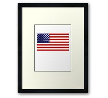 American Flag, Stars & Stripes, Pure & simple, United States of America, USA Framed Print