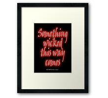 Something Wicked, Macbeth, Shakespeare Play, Theater, Play, Second Witch Framed Print
