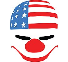 PayDay American Flag Mask Photographic Print
